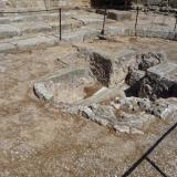 Baptistery of the Early Christian basilica that succeeded the temple of Athena.