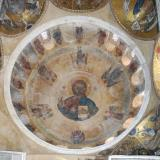 Pantokrator fresco at the cupola of Katholikon