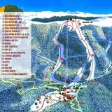 A map of the ski centre area